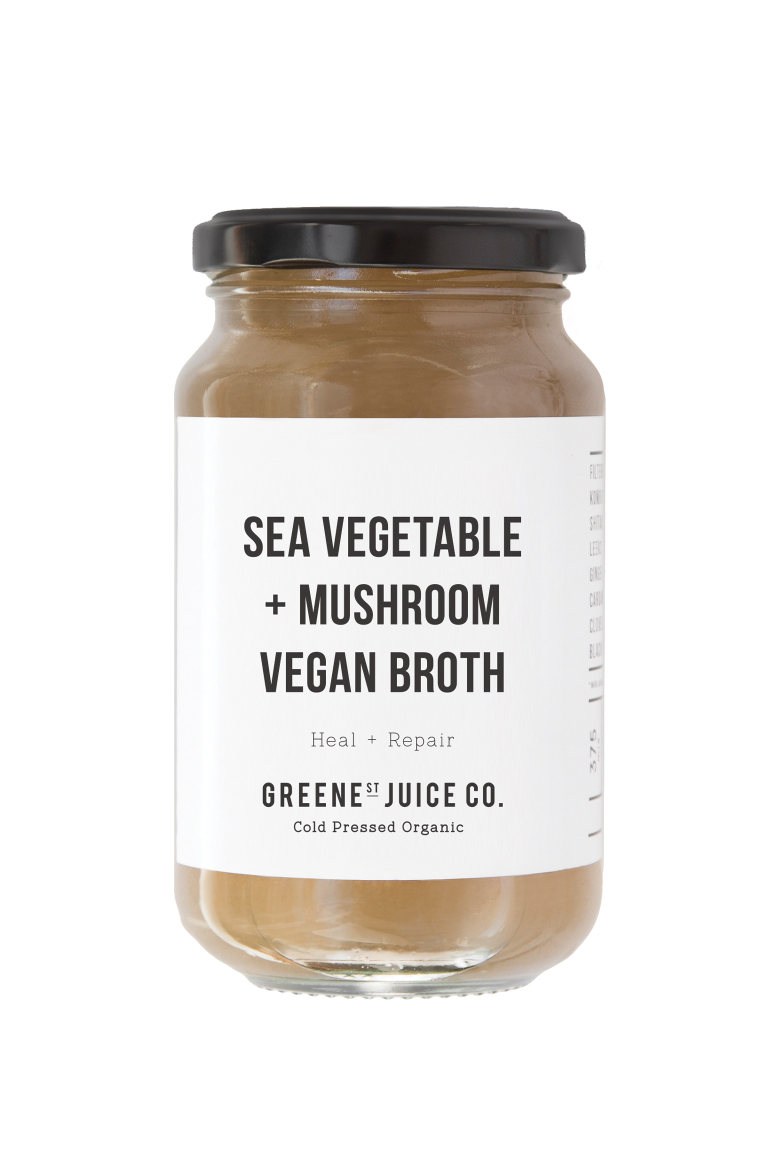 Sea Vegetable + Mushroom Broth (Vegan)